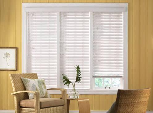 2 faux wood blinds 10