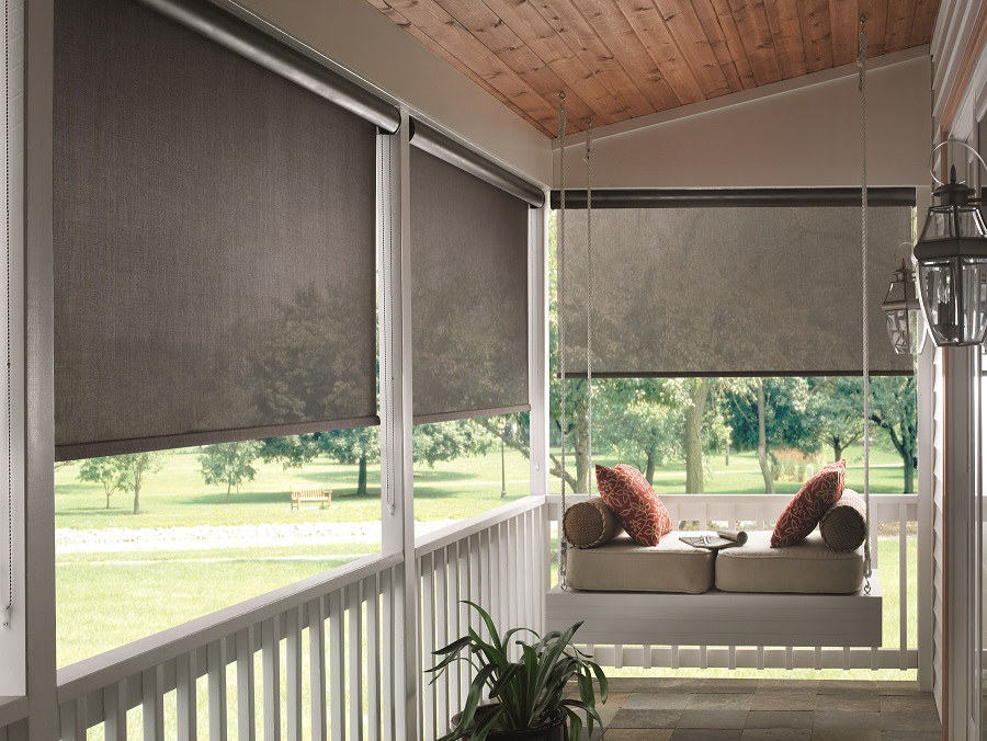 Graber-Porch-Solar-Shades - Solar Shades Blinds Galore And More