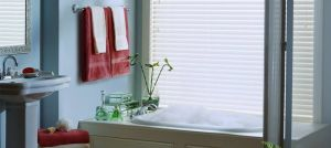 2 Faux Wood Blinds (12)