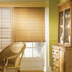 2 Faux Wood Blinds (5)