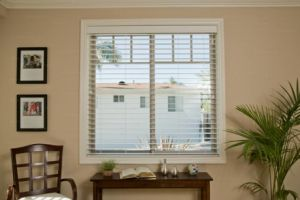 2 Faux Wood Blinds (8)