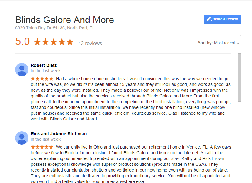 google reviews 11+12