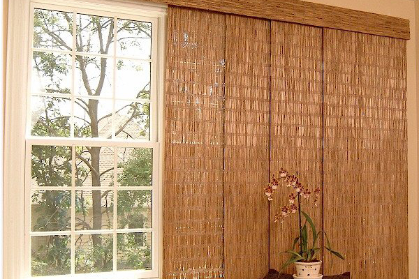 Blinds galore and more florida 39 s premier window treatment center - Woven wood wall panels ...