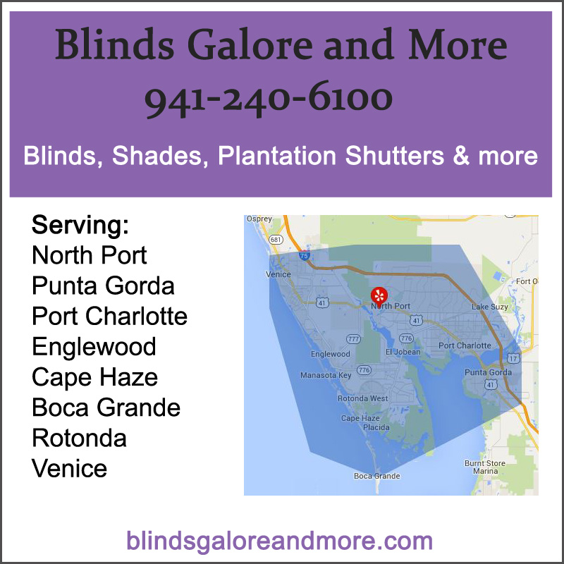 Service Area Blinds Galore Amp More North Port Venice